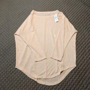 LOFT NWT Blush Pink Dolman Sleeve Knit Top XS